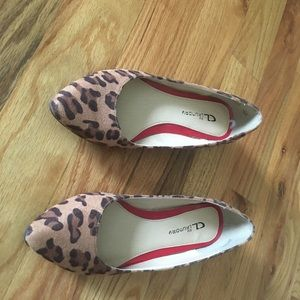 Leopard flats Chinese laundry